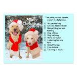 Tarjeta del favor del navidad tarjetas de visita