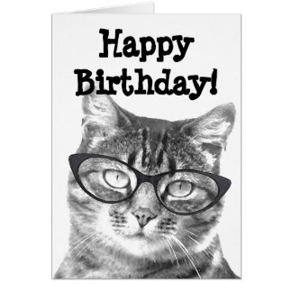 Tarjeta del feliz cumpleaños con diseño divertido