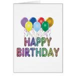Tarjeta del feliz cumpleaños con el globo