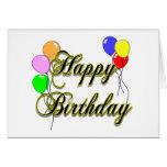 Tarjeta del feliz cumpleaños con los globos 2