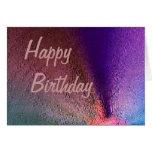 Tarjeta del feliz cumpleaños de Birthstone