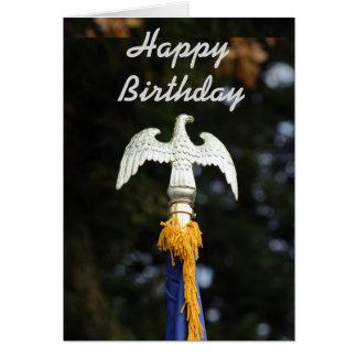 Tarjeta del feliz cumpleaños de Eagle