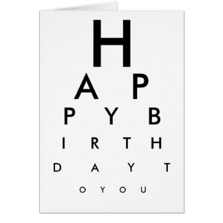 Tarjeta del feliz cumpleaños de la carta de ojo