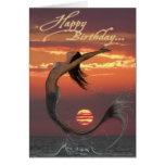 tarjeta del feliz cumpleaños de la danza de la pue