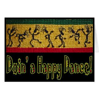 tarjeta del feliz cumpleaños de la danza del regga