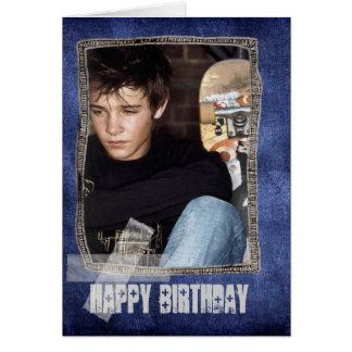 tarjeta del feliz cumpleaños de la foto