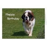 Tarjeta del feliz cumpleaños de la foto del perro