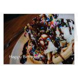 Tarjeta del feliz cumpleaños de la galleta del hel