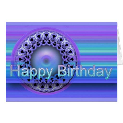 Tarjeta del feliz cumpleaños de la mandala