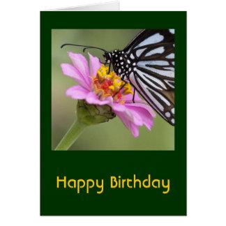 Tarjeta del feliz cumpleaños de la mariposa