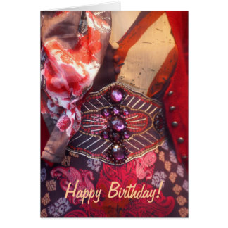 Tarjeta del feliz cumpleaños de la moda