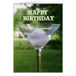 Tarjeta del feliz cumpleaños de la pelota de golf