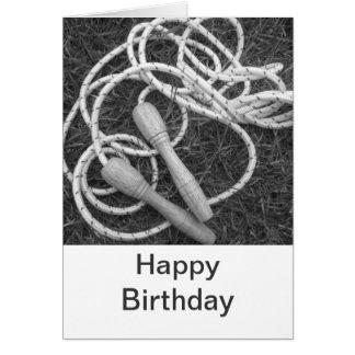 Tarjeta del feliz cumpleaños de las cuerdas que sa