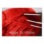 Tarjeta del feliz cumpleaños de las lanas que hace
