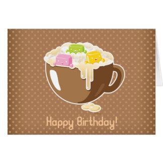 Tarjeta del feliz cumpleaños de las melcochas de K
