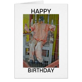 Tarjeta del feliz cumpleaños de los caracteres del