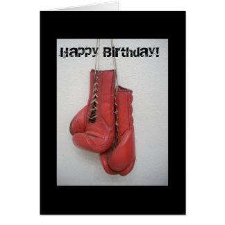 Tarjeta del feliz cumpleaños de los guantes de box