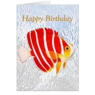 Tarjeta del feliz cumpleaños de los pescados del a