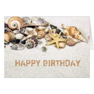 Tarjeta del feliz cumpleaños de los Seashells