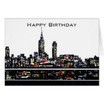 Tarjeta del feliz cumpleaños de Nueva York