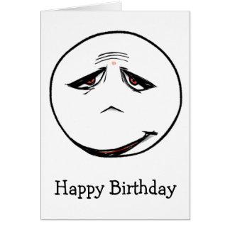 Tarjeta del feliz cumpleaños de Sadface