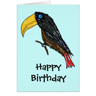 Tarjeta del feliz cumpleaños de Toucan