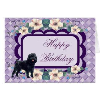 Tarjeta del feliz cumpleaños del Affenpinscher