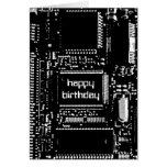 """Tarjeta del """"feliz cumpleaños"""" del circuito B&W"""