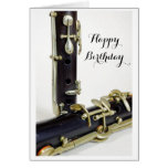 Tarjeta del feliz cumpleaños del Clarinet