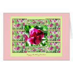 Tarjeta del feliz cumpleaños del collage del tulip