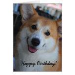 Tarjeta del feliz cumpleaños del Corgi Galés