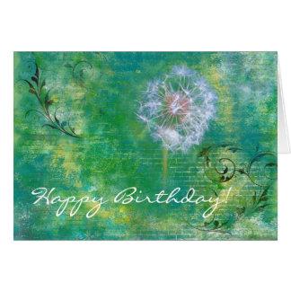 Tarjeta del feliz cumpleaños del fondo del Grunge