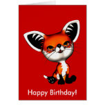Tarjeta del feliz cumpleaños del Fox de perro del