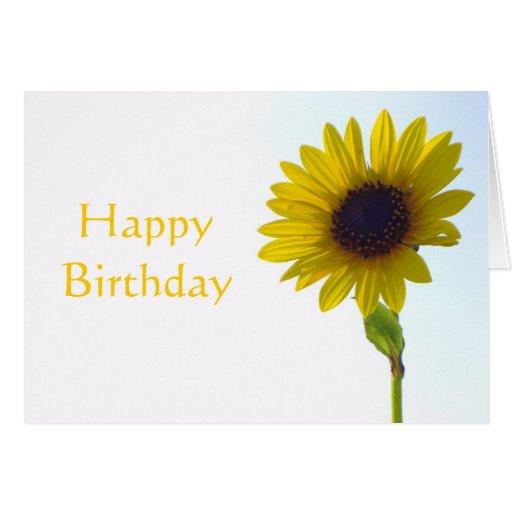 Tarjeta del feliz cumpleaños del girasol