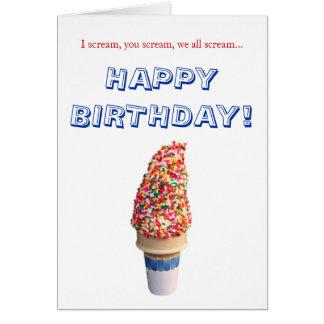 Tarjeta del feliz cumpleaños del helado