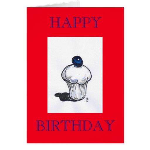 Tarjeta del feliz cumpleaños del mollete del aránd