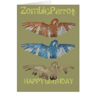 Tarjeta del feliz cumpleaños del pájaro de ZOMBIEP