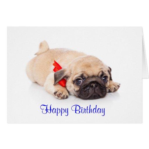 Tarjeta del feliz cumpleaños del perro de perrito | Zazzle