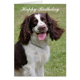 Tarjeta del feliz cumpleaños del perro del perro d