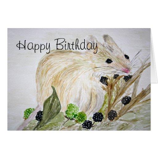 Tarjeta del feliz cumpleaños del ratón
