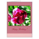 Tarjeta del feliz cumpleaños del tulipán del aránd