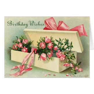 Tarjeta del feliz cumpleaños del vintage