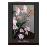 Tarjeta del feliz cumpleaños - flores de cerezo