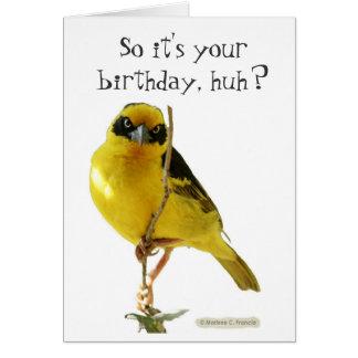 Tarjeta del feliz cumpleaños (para él) por LOLBird