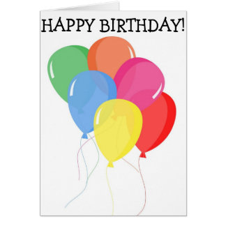 Tarjeta del feliz cumpleaños: Seis globos