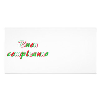 Tarjeta del feliz cumpleaños tarjeta fotográfica