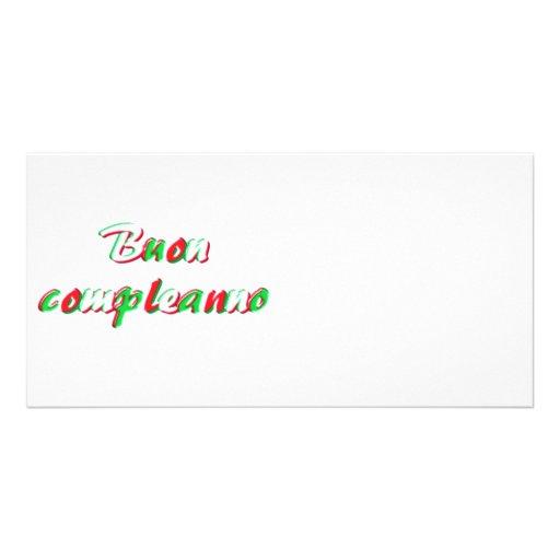 Tarjeta del feliz cumpleaños tarjeta personal con foto