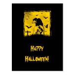 Tarjeta del feliz Halloween Tarjeta Postal