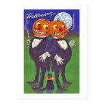 Tarjeta del feliz Halloween Tarjetas Postales