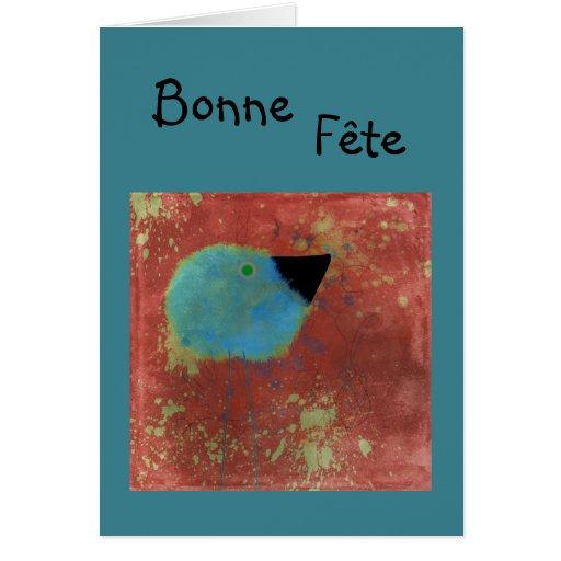 tarjeta del Fete de Bonne del fluffus